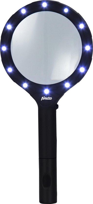 Alecto ACL-91 Loep met LED verlichting - 2,5 keer vergroting - Zwart