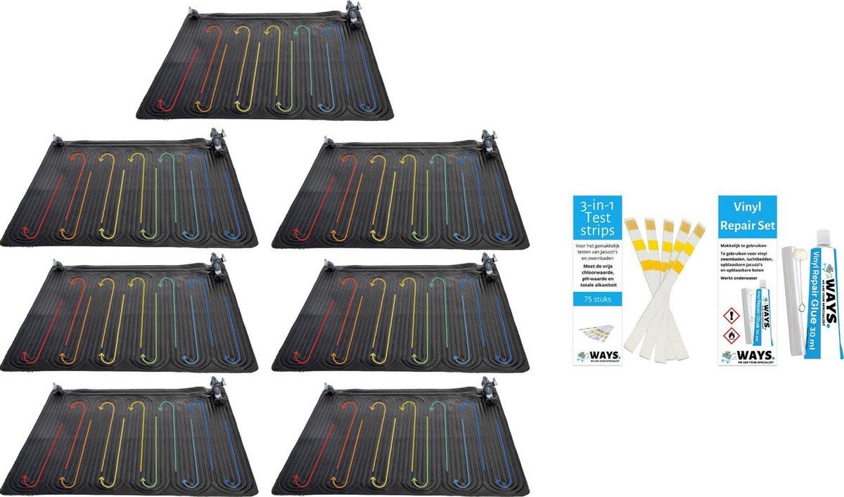 Intex - 7 stuks - Zwembad verwarming - Geschikt voor filterpomp 28634GS & WAYS Reparatieset en Teststrips