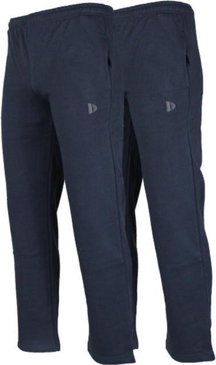 2-Pack Donnay Joggingbroek rechte pijp - Sportbroek - Heren - Maat L - Donkerblauw