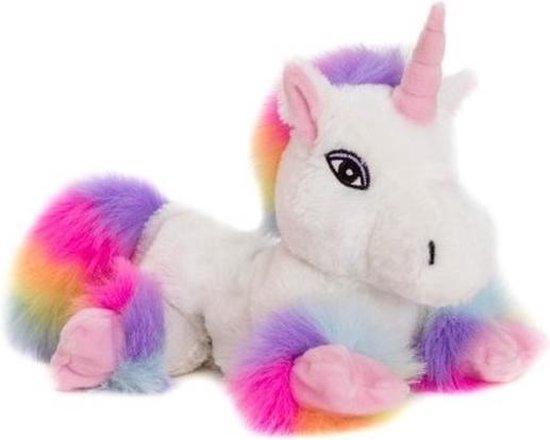Magnetron warmte knuffel eenhoorn regenboog 18 cm - Verwijderbare zak - Warmte/koelte knuffeleenhoorn - Kruik knuffels voor kinderen/jongens/meisjes