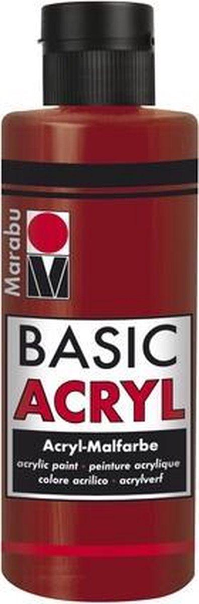Basic Acryl busje 80 ML - Rood Oosters