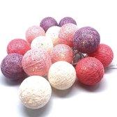 Cotton balls lights lichtsnoer - 12 stuks meerdere kleuren