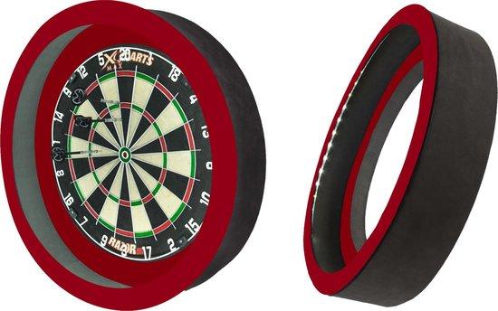 Dragon 360 2.0 - Rood - 2 in 1 - Dartbord Verlichting - inclusief beschermring - inclusief XQ-Max dartbord