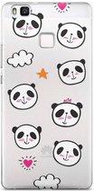 Huawei P9 Lite transparant hoesje - Panda
