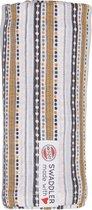 Lodger Hydrofiele doeken - Swaddler - Stripe Xandu - Okergeel print - 1 stuk