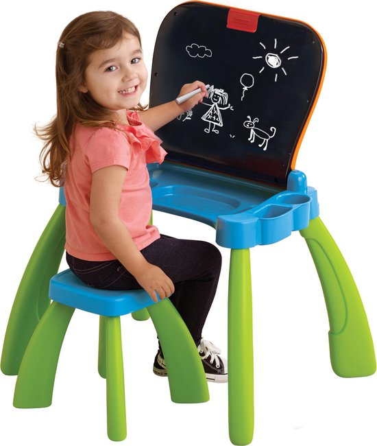 VTech Preschool Mijn Magisch Bureau 3 in 1 Blauw - Interactieve Tafel