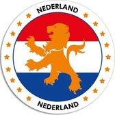 Nederland raamsticker rond 14 cm - Holland raam decoratie stickers
