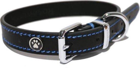 Luxury Leather Halsband Hond Leer Luxe Zwart - 1.9X36-46 CM