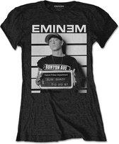 Eminem Dames Tshirt -M- Arrest Zwart
