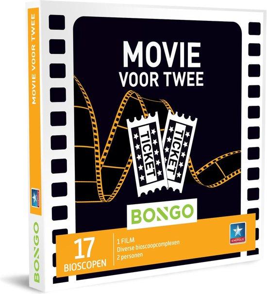 Bongo Bon - Movie voor Twee Cadeaubon - Cadeaukaart cadeau voor man of vrouw | 17 bioscopen
