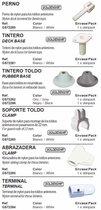 Bimini Accessoire Dek voet (GS72261)