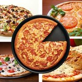 Let op type!! 6 inch Round Non-stick Pizza Pan Baking Cooking Oven Tray  Size: 16.5(D) x 2.2cm(H)