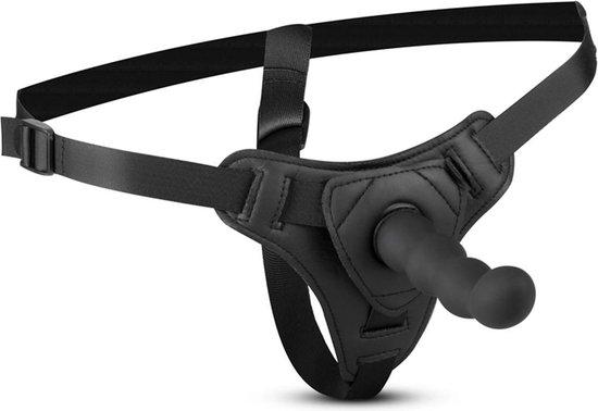 Teazers Strap On Voorbinddildo - Strap On Harnas met Siliconen Dildo - Complete set voorbind dildo met verstelbare banden - Zwart
