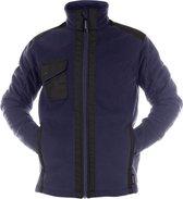 Dassy Profesional Workwear Drielaagse Fleecejas Versterkt Met Canvas - Croft Nachtblauw/zwart - Mt Xs
