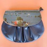 Wana Bana Vintage Crossbody tas Blauw - Vegan - Flow