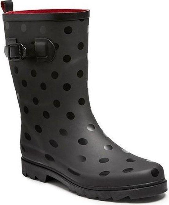 Zwarte regenlaars met stippen voor dames Regenlaarzen voor volwassenen 39