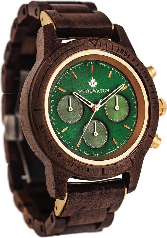 WoodWatch Emerald Gold