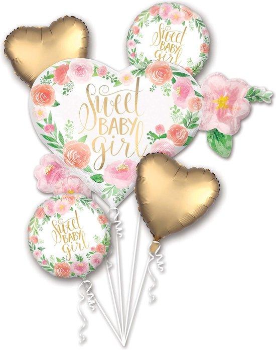 Aluminium Sweet baby girl ballon boeket - Feestdecoratievoorwerp