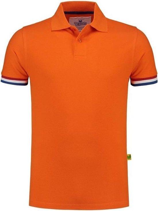 Oranje polo shirt Holland voor heren - Nederland supporter/fan Koningsdag kleding - EK/WK voetbal - Olympische spelen - Formule 1 verkleedkleding L