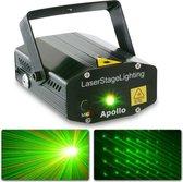 Laser lichteffect - BeamZ Apollo sterrenhemel laser lichteffect met rood / groene laserstralen - 170mW