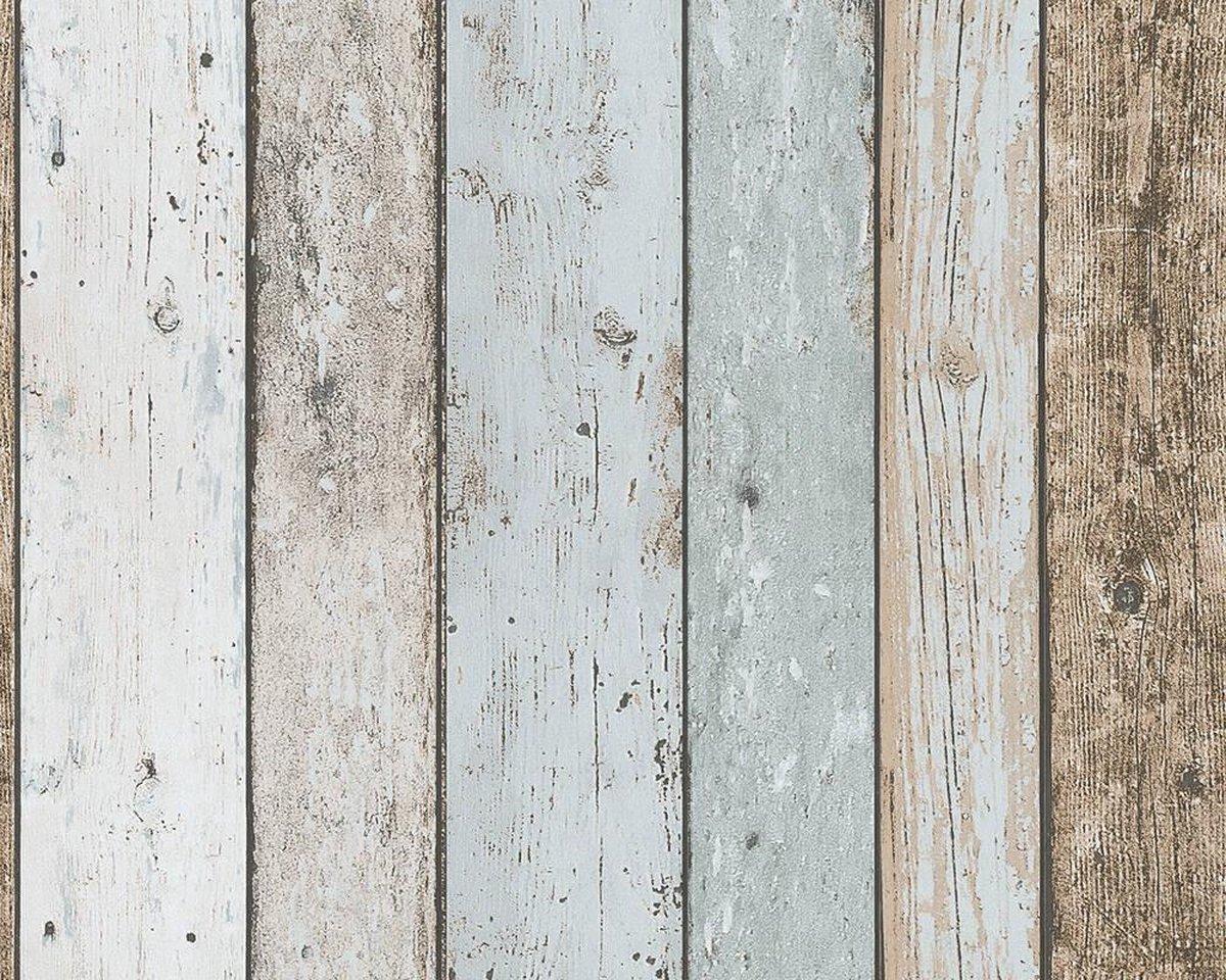 SLOOPHOUT BEHANG - Beige Blauw Bruin - AS Creation Il Decoro