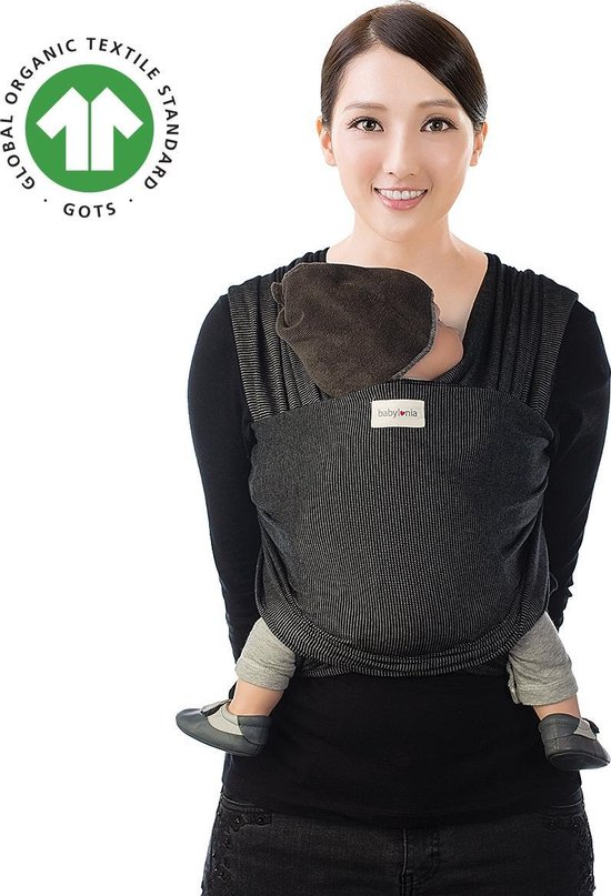 Babylonia draagdoek Tricot-Slen Design black stipple