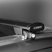 Dakdragers Audi Q3 2011 t/m 2018 met gesloten dakrails - Farad wingbar zwart