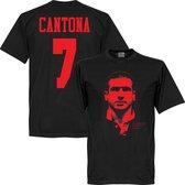 Cantona Silhouette T-Shirt - Zwart/Rood - Kinderen - 152