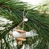 Riviera Maison Christmas Double Decker Plane Ornament