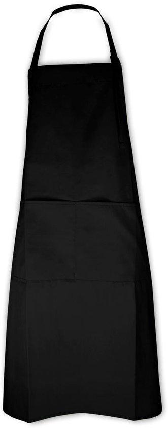 Keukenpakket Zwart: 1 Apron schort, 2 ovenwanten, 2 pannenlappen en 1 theedoek