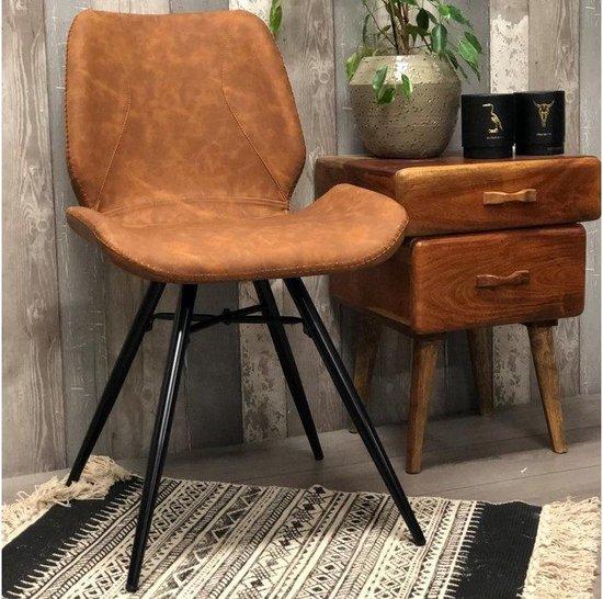 Eetkamerstoel Hetson Premium cognac meubels outlet