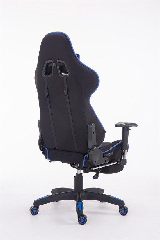 Bureaustoel Met Voetsteun.ᐅ Clp Turbo Bureaustoel Met Voetsteun Stof Zwart Blauw