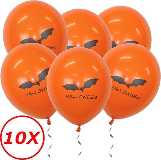 Halloween Versiering Decoratie Helium Ballonnen Feest Versiering Halloween Accessoires Ballon Oranje Vleermuis – 10 Stuks