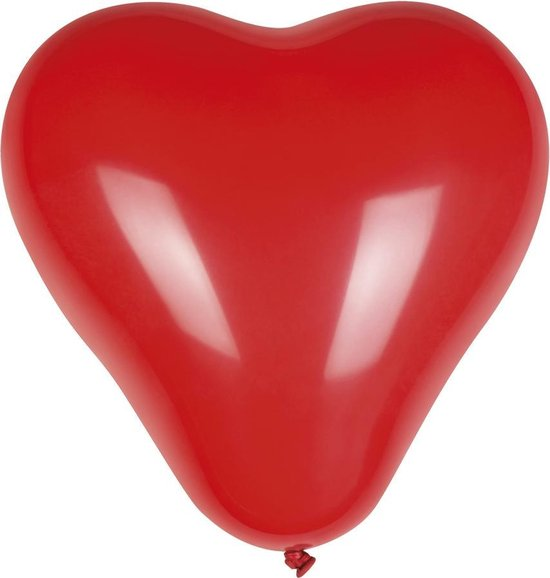Boland - Ballonnen - Hart 25 Cm Latex Rood 6 Stuks