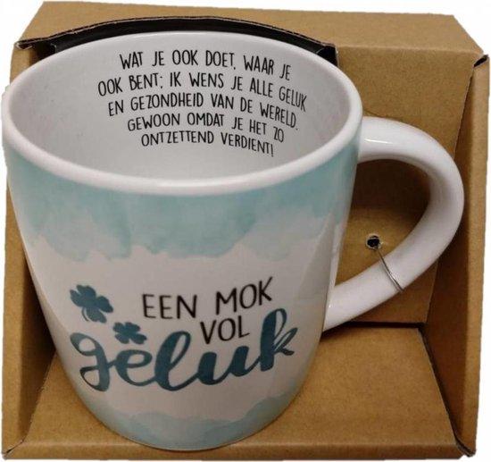 Enjoy Mok - Een mok vol geluk - Met binnentekst