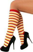Dorus kousen rood/wit/geel