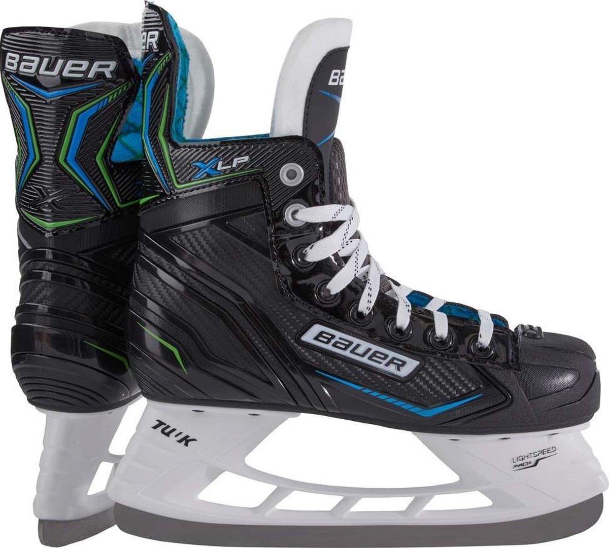 Bauer Ijshockeyschaatsen X-lp Junior Microfiber Zwart/blauw Mt 36