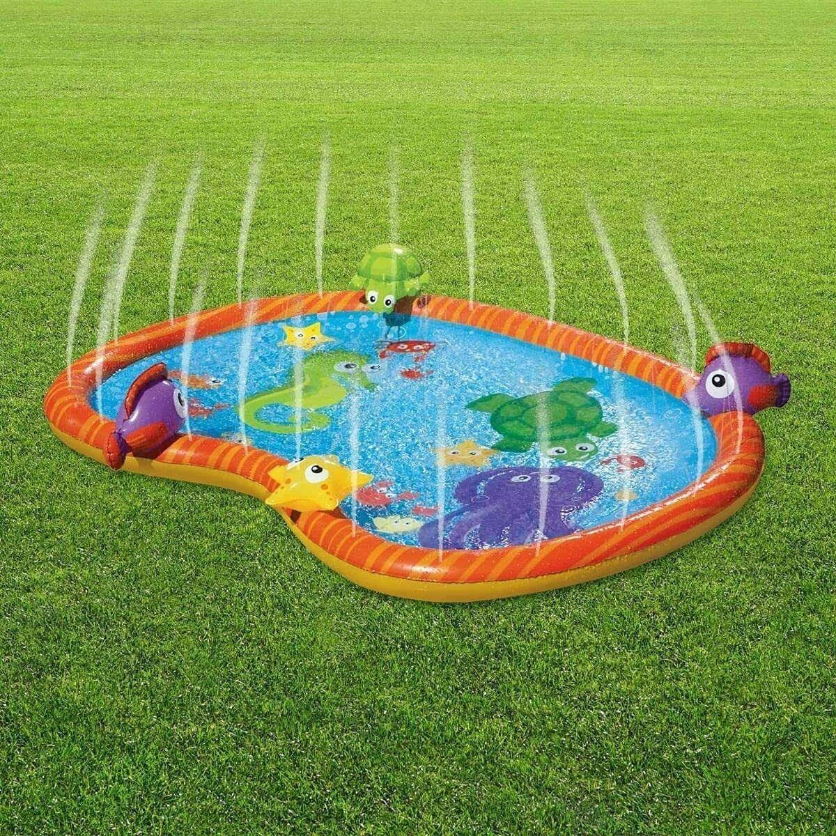 CKB - Opblaasbare Sea Life Zwembad - Met watersproeier - speelmat peuterbad
