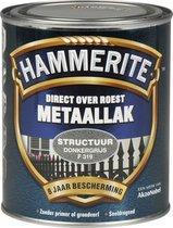 Hammerite Metaallak Structuur - Donker Grijs - 750 ml