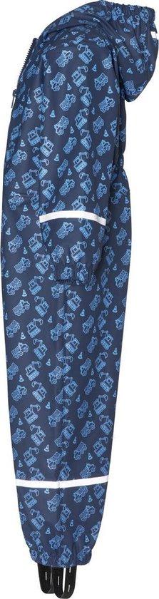 Playshoes - Regenoverall voor jongens - Bouwwerkplaats - Marineblauw - maat 104cm