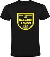 Ik ga zwemmen in Bacardi Lemon Heren t-shirt