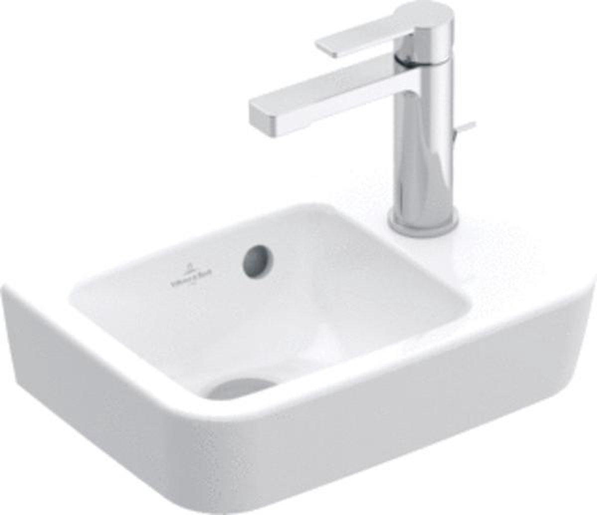 Villeroy & Boch O.novo fontein 36X25cm 1 kraangat rechts zonder overloop wit