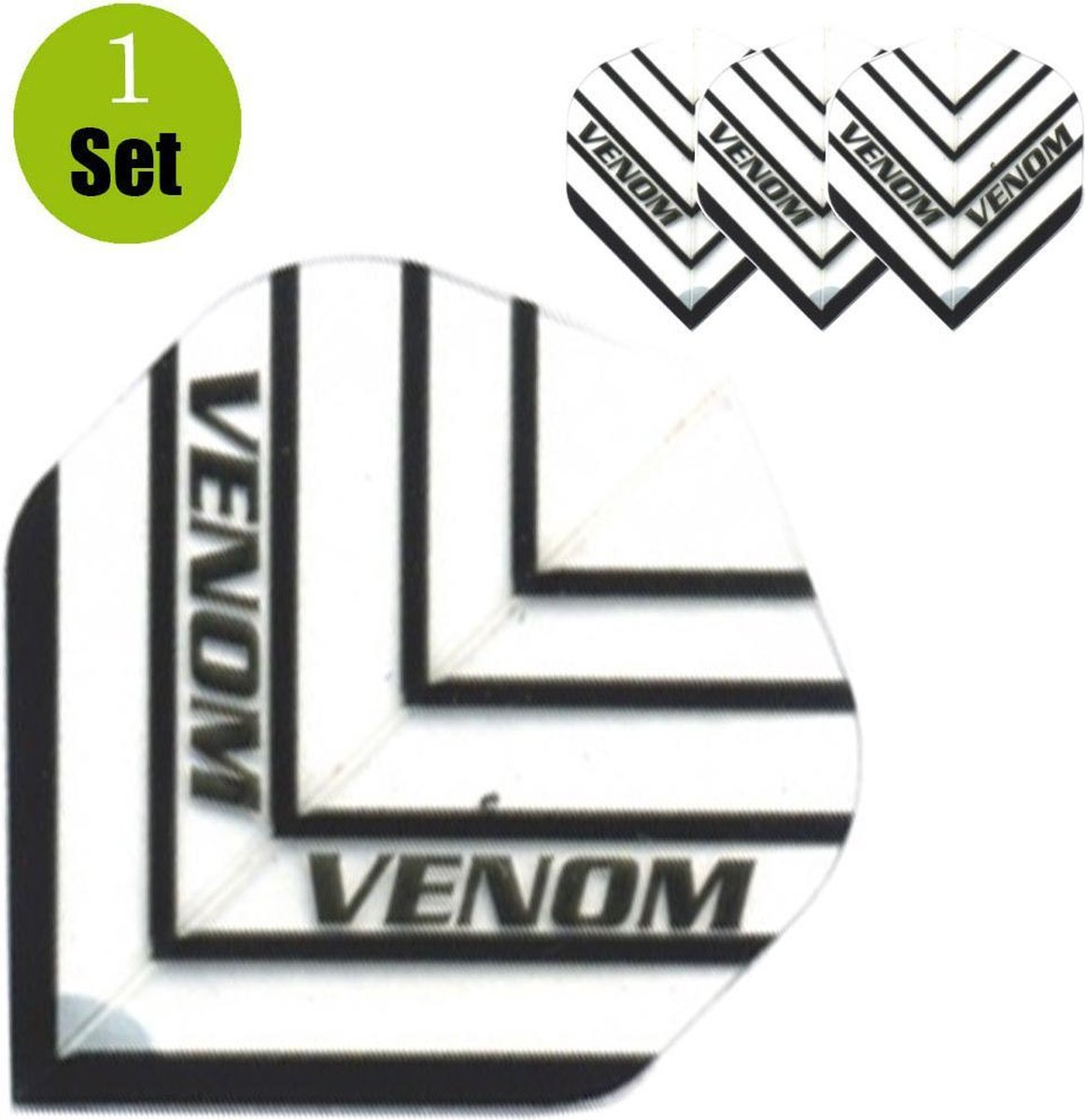 Ruthless Venom HD150 Dartflights - Wit- ()