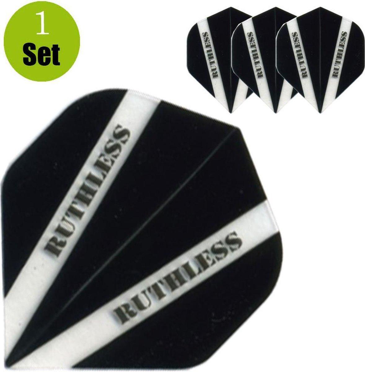 Ruthless V100 Dart Flights - Zwart- ()