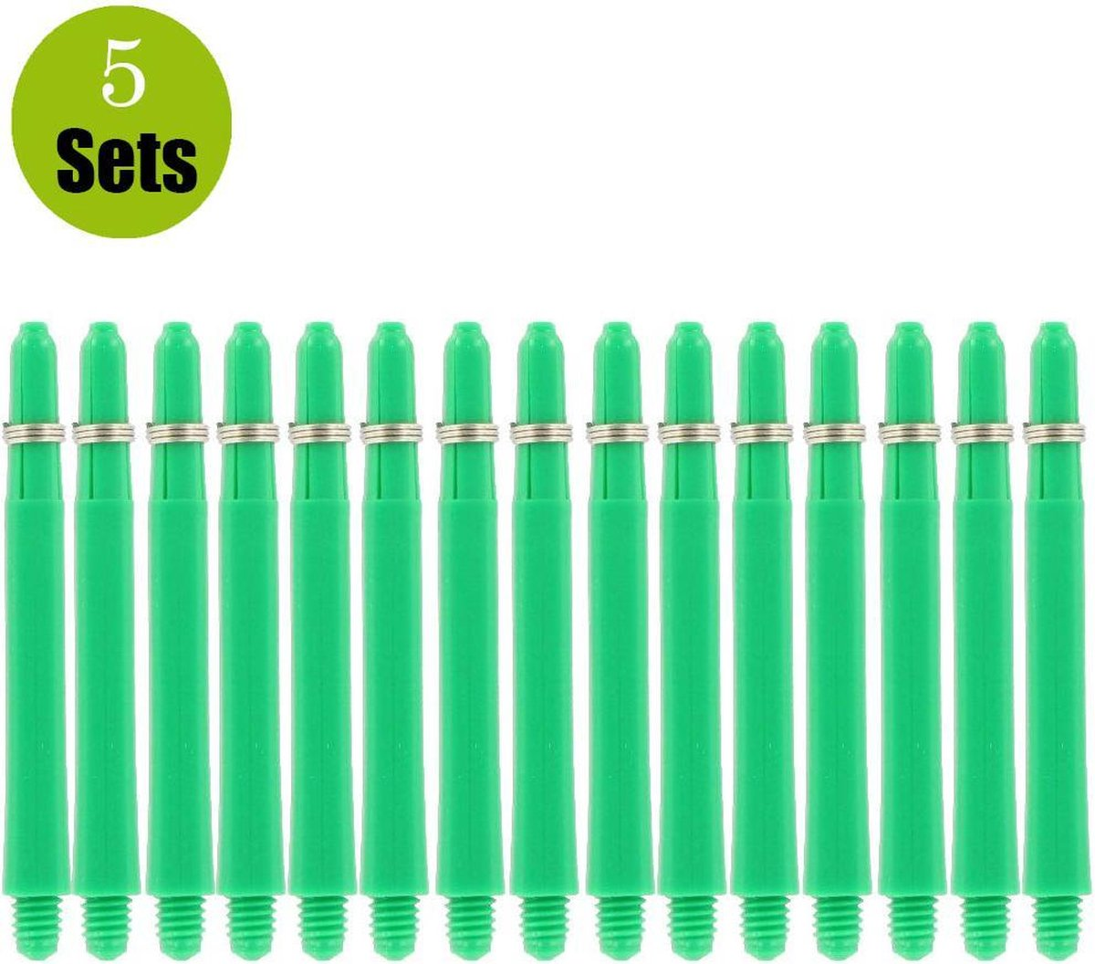 Bulls Nylon 5Sets DartShafts - Groen - Short - (5 Sets)