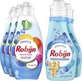 Robijn Morgenfris Wasmiddel en Wasverzachter - 57 wasbeurten - Voordeelverpakking
