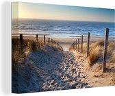 Canvas Schilderijen - Strand - Zee - Nederland - 140x90 cm - Wanddecoratie