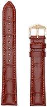 Hirsh Horlogeband Duke Goudbruin - Leer - 18mm