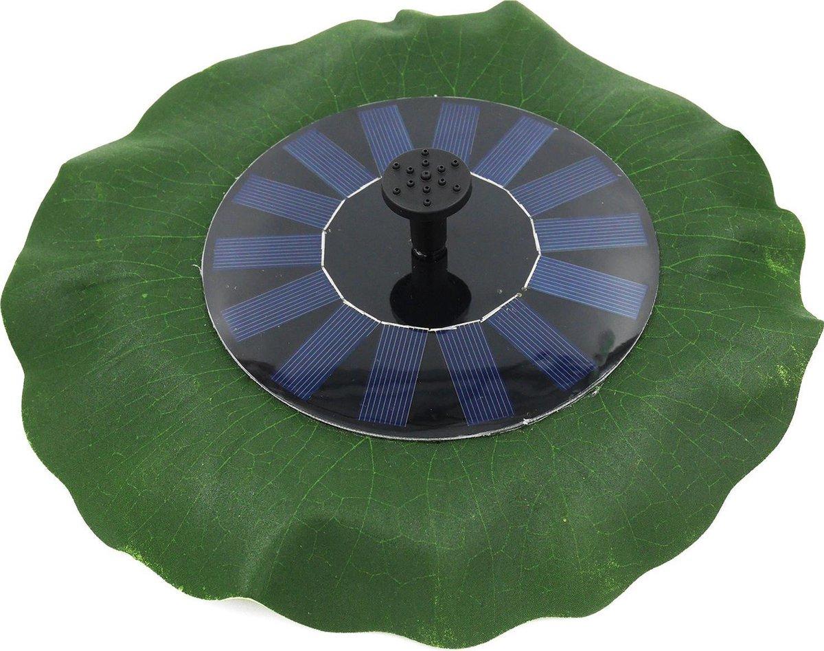 Drijvende fontein op zonne-energie met lotusblad van 28cm