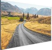 Weg Nieuw-Zeeland  Aluminium 60x40 cm - Foto print op Aluminium (metaal wanddecoratie) / Zee en Strand
